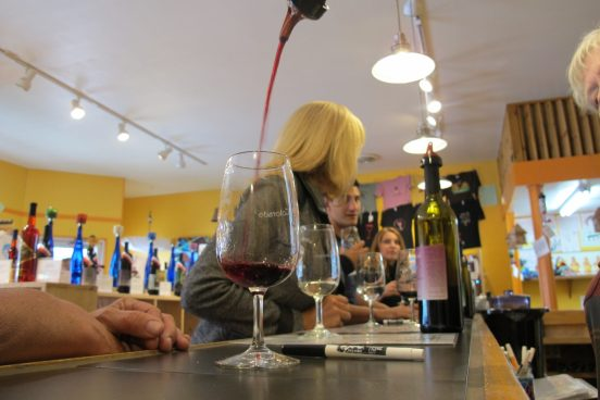 Drinking Wine in Colorado - photo Courtesy of Estes Park