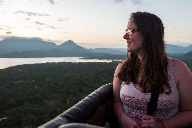 Eileen Cotter Wright ina hot air balloon in sri lanka by style in sri lanka