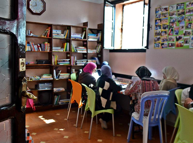 girls studying in school near marrakech morocco eileen cotter wright