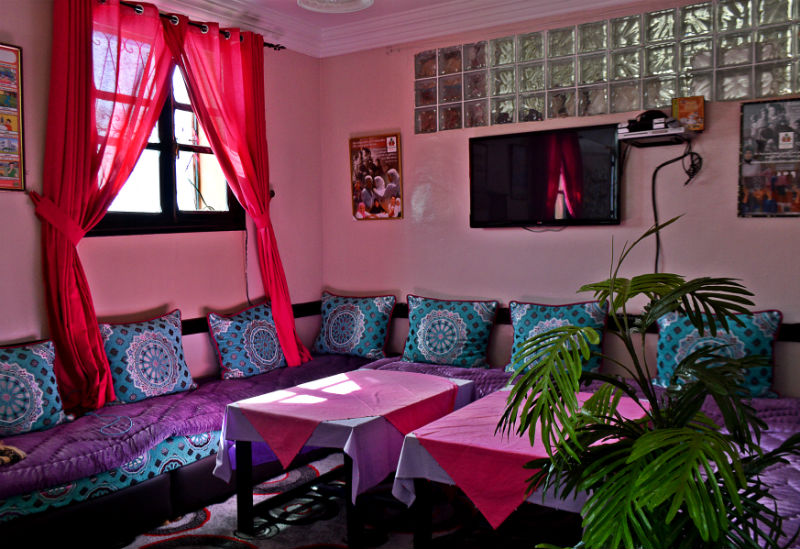 lounge area pink me at education for all school near marrakech morocco eileen cotter wright