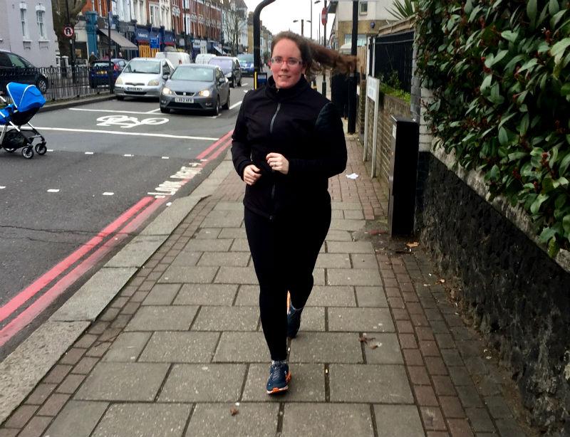 eileen cotter wright running in clapham london uk