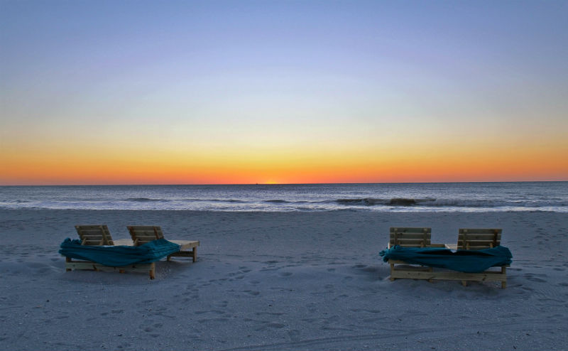 beach sunset tween waters inn captiva island florida eileen cotter wright