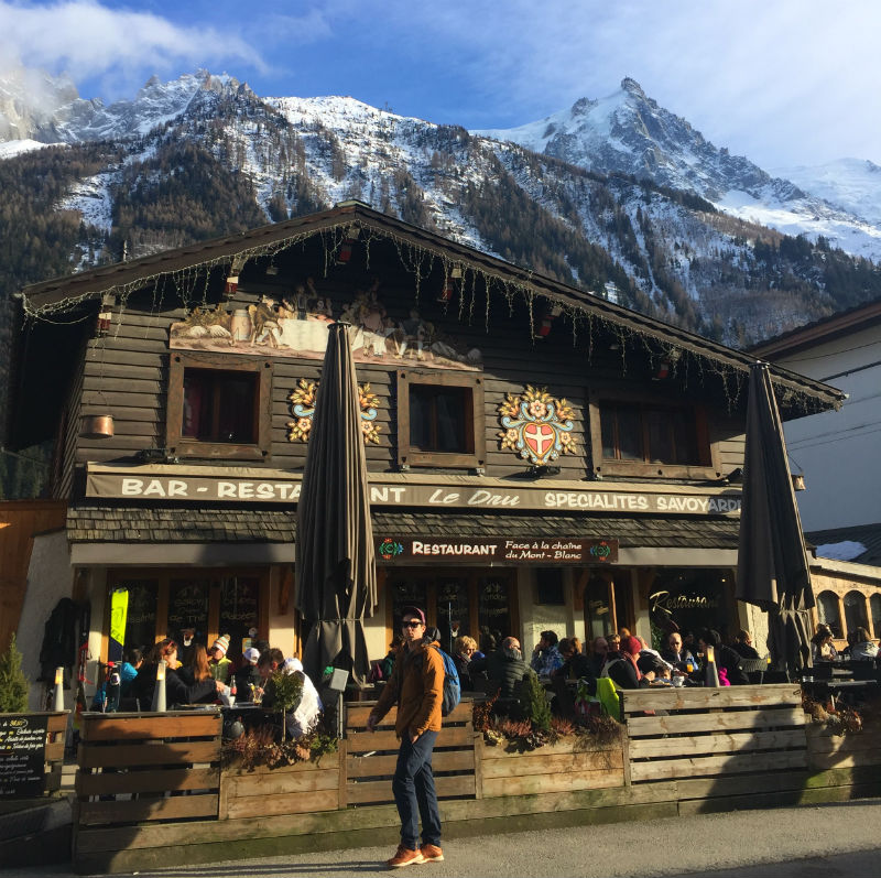 restaurant mountains chamonix france eileen cotter wright