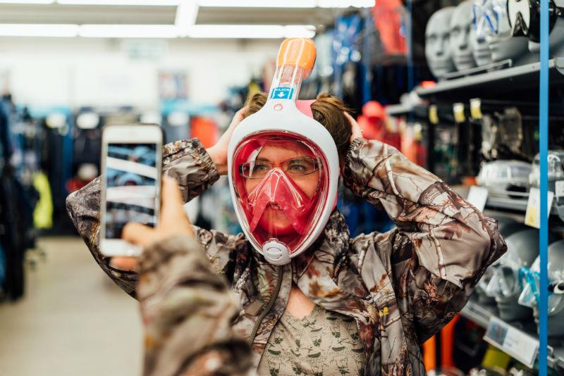 snorkeling mask scavenger hunt decathlon