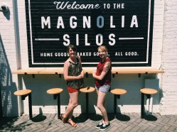 Elizabeth and me at the Magnolia Silos in Waco, Texas.