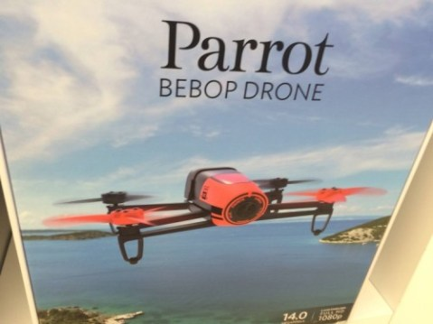 While pretending to be a real customer I saw the Parrot Bebop Drone, which seems like the weirdest-named and coolest thing ever.
