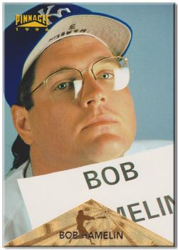 Bob Hamelin, 1994 AL Rookie of the Year and coverboy on the worst (best?) baseball card of all time.