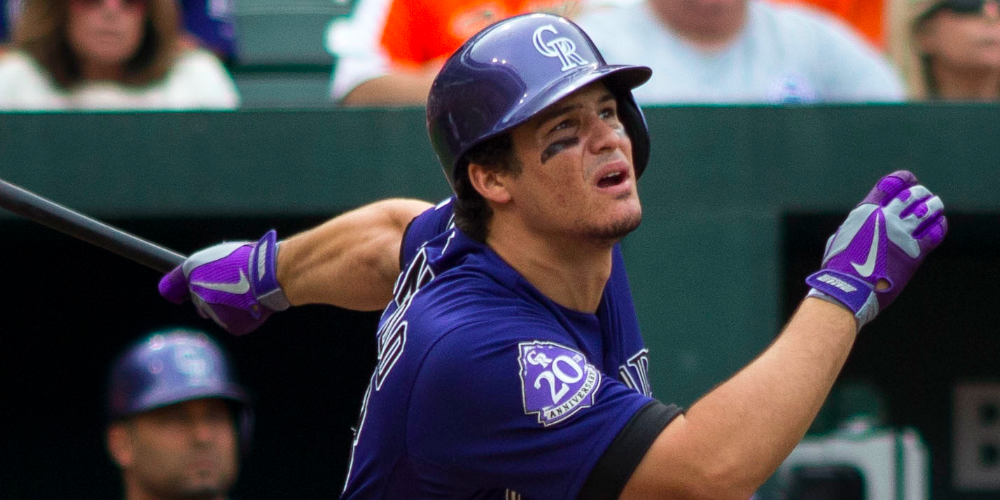 Chin up, Nolan Arenado. Only 1,720 days until free agency! (Photo by Keith Allison - CC/2.0)