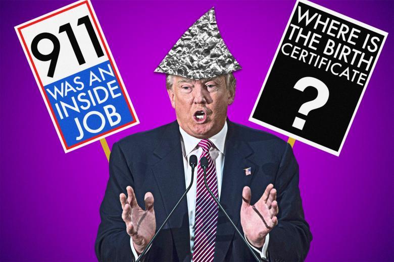 Αποτέλεσμα εικόνας για conspiracy theories & Trump
