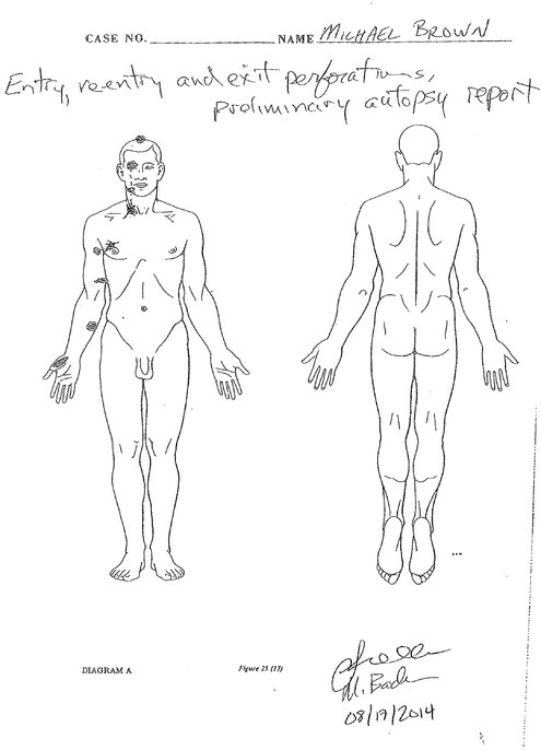 Michael Brown Autopsy Report: 6 Gunshots, Confirms Witness
