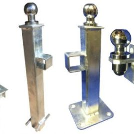 Crookstoppers full range of caravan or trailer hitch lock security posts.