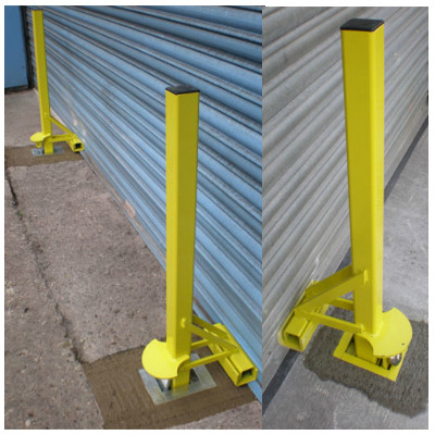 Crookstoppers Anti Ram-Raid Roller Shutter Door Security Post.