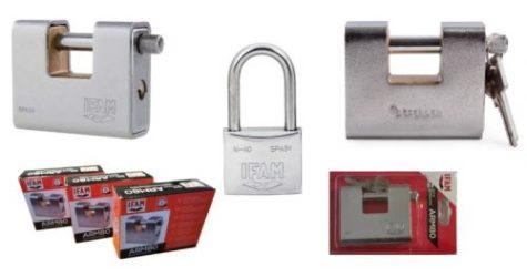 Selection of padlocks