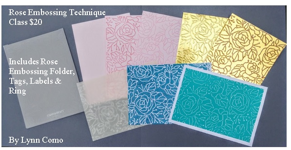 Rose Embossing Techniques, Lynn Como
