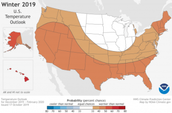 NOAA Climate Prediction Center Temperature Outlook
