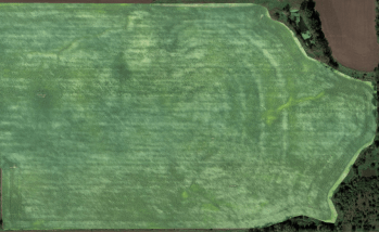 A Full Field Map of crop damage caused by high wind events.