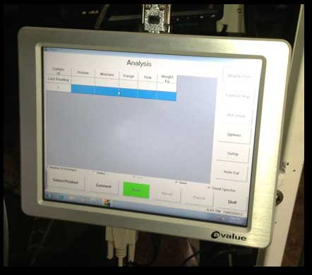 CropScan 3000H Touchscreen PC mounted in the cab