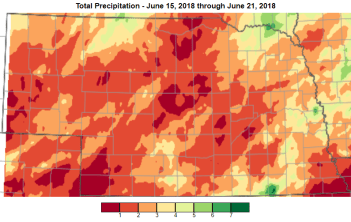 7-da7 precipitation map June 15-21 2018