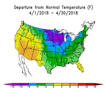 April Temperatures 2018