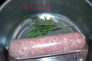 Saucisson de Lyon pistaché en salade tiède - DSC_3227_737