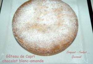 Gâteau de Capri chocolat blanc-amande -DSC 4740 13086