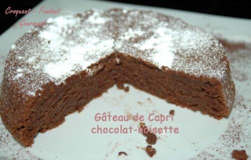 Gâteau de Capri chocolat-noisette -DSC 4742 13088