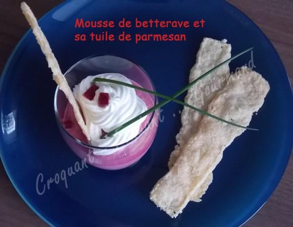 Mousse de betterave et sa tuile de parmesan DSCN1188_30749