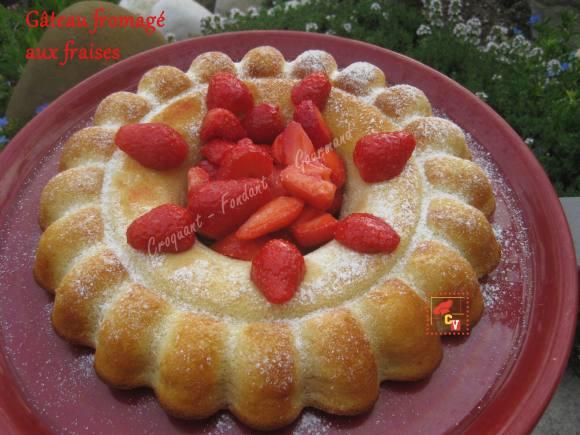 Gâteau fromagé aux fraises Culino versions IMG_5392_33206