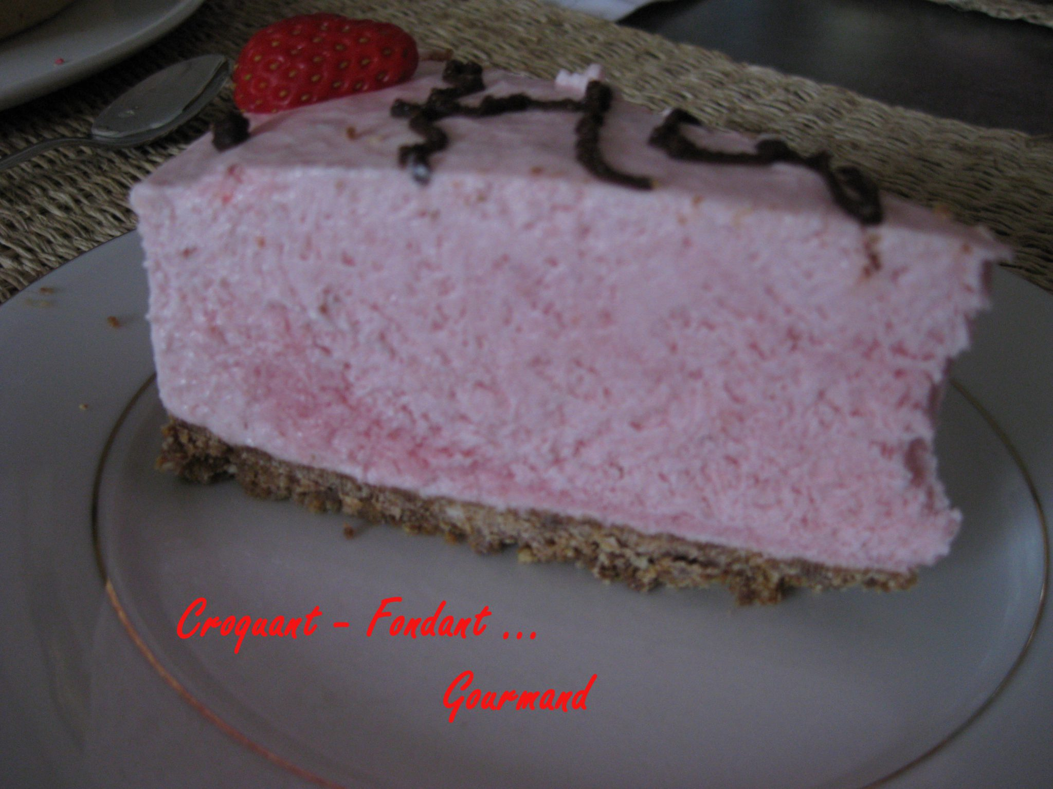 Cheesecake Fraise Croquant Fondant Gourmand