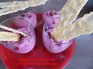 Mousse de betterave et sa tuile de parmesan DSCN1165_30726