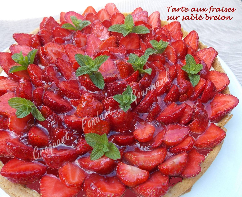 Tarte aux fraises sur sablé breton DSCN8150