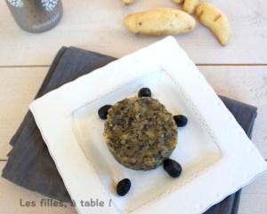 Défi 7 écrasé de pommes de terre aux olives noires Les filles à table img_7285