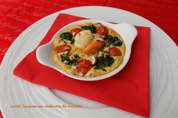 Saint Jacques sur clafoutis de brocolis       039