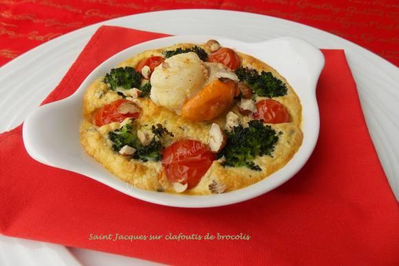 Saint Jacques sur clafoutis de brocolis       041