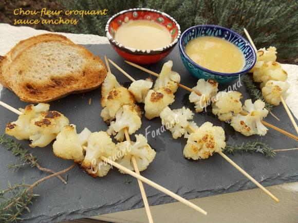 Chou-fleur croquant sauce anchois DSCN1315