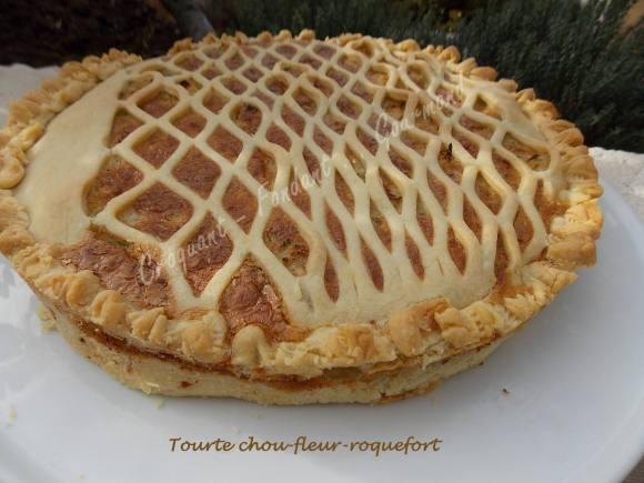 Tourte chou-fleur-roquefort DSCN1198