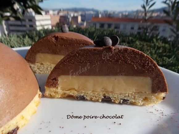 Dôme poire-chocolat DSCN1429