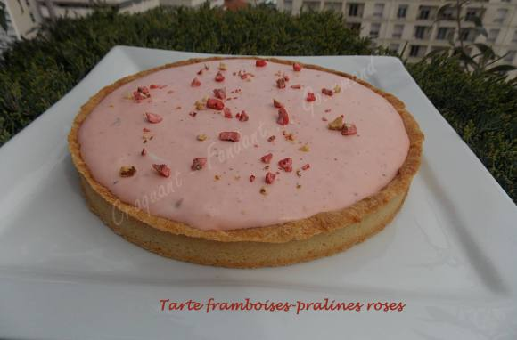 Tarte framboises-pralines roses DSCN3661