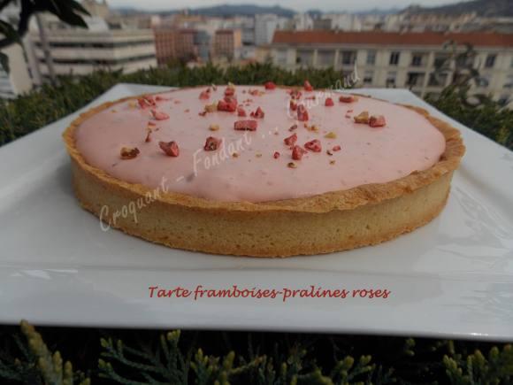Tarte framboises-pralines roses DSCN3663