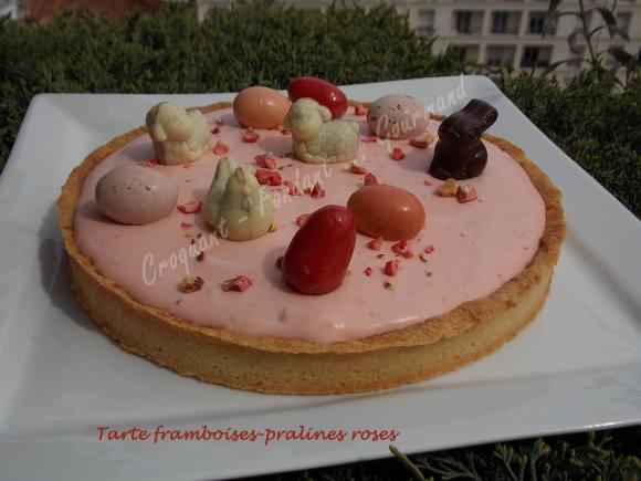 Tarte framboises-pralines roses DSCN3674