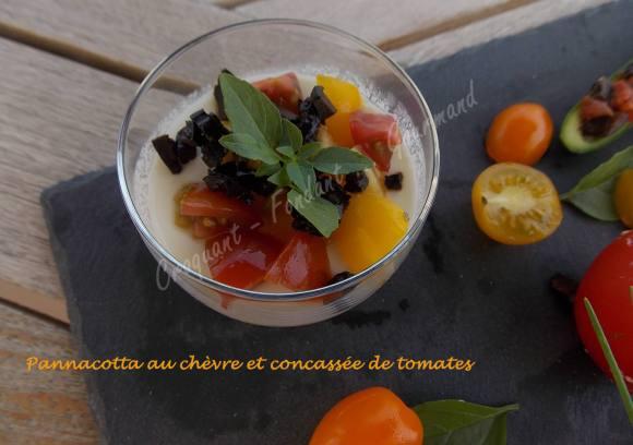 Pannacotta au chèvre et concassée de tomates DSCN5293