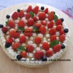 tarte rhubarbe- fraise à vous de jouer Malika Jolivet