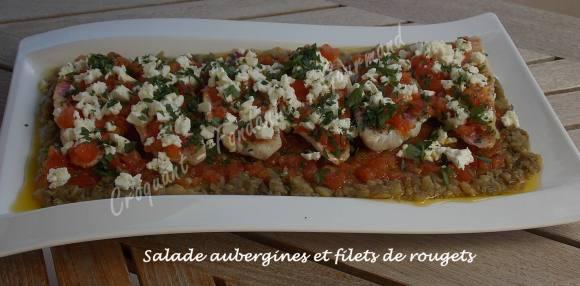 Salade aubergines et filets de rougets DSCN5207
