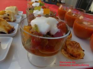Verrines de tomates multicolores-Chantilly de mozzarella DSCN5414