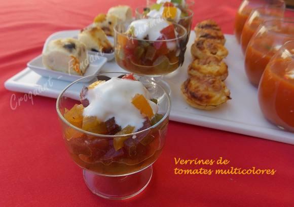 Verrines de tomates multicolores-Chantilly de mozzarella DSCN5415