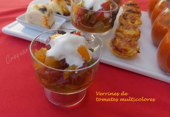 Verrines de tomates multicolores-Chantilly de mozzarella DSCN5417