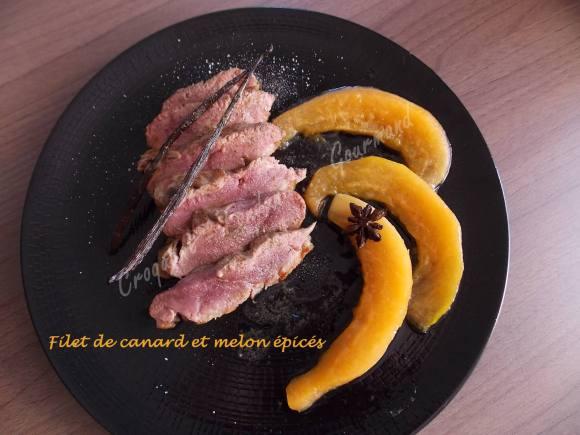 Filet de canard et melon épicés DSCN5740