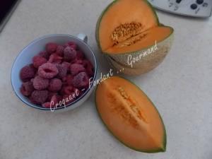 Mousse de melon à la framboise DSCN5704