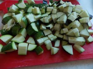 Salade de blé au poulet et légumes confits DSCN5088