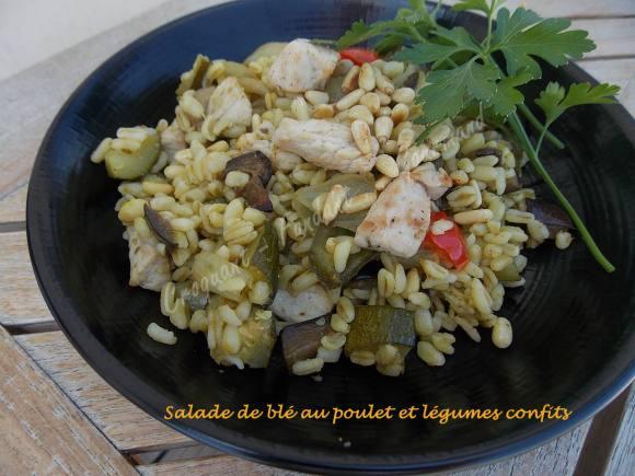 Salade de blé au poulet et légumes confits DSCN5108